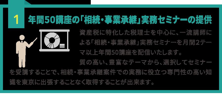 間50講座の「相続・事業承継実務セミナー」がオンラインで 受け放題 !