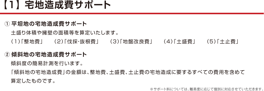 【1】 宅地造成費サポート
